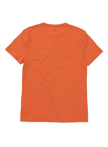 heren t-shirt oranje oranje - 1000005958 - HEMA