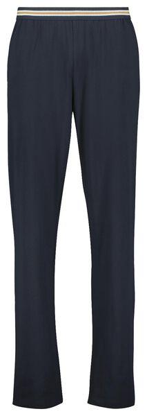 heren pyjamabroek katoen stretch donkerblauw L - 23678473 - HEMA