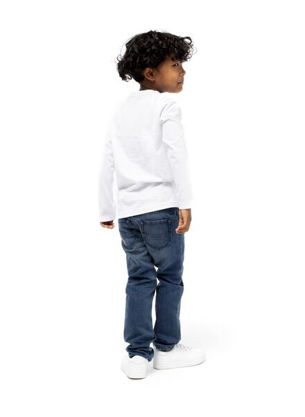 2-pak kinder t-shirt - biologisch katoen wit 86/92 - 30719630 - HEMA