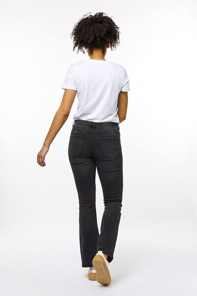 dames jeans bootcut shaping fit zwart 46 - 36347496 - HEMA
