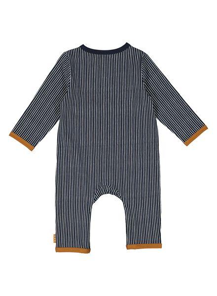 newborn jumpsuit - biologisch katoen blauw blauw - 1000014180 - HEMA
