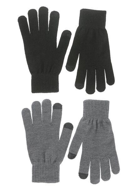 dameshandschoenen zwart S/M - 16460006 - HEMA