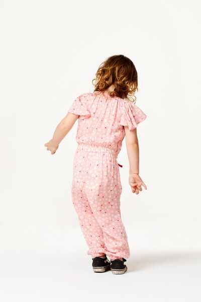 kinderjumpsuit bloem roze roze - 1000023318 - HEMA