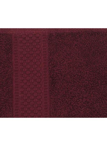 handdoek - 50 x 100 cm - zware kwaliteit - bordeaux - 5220004 - HEMA