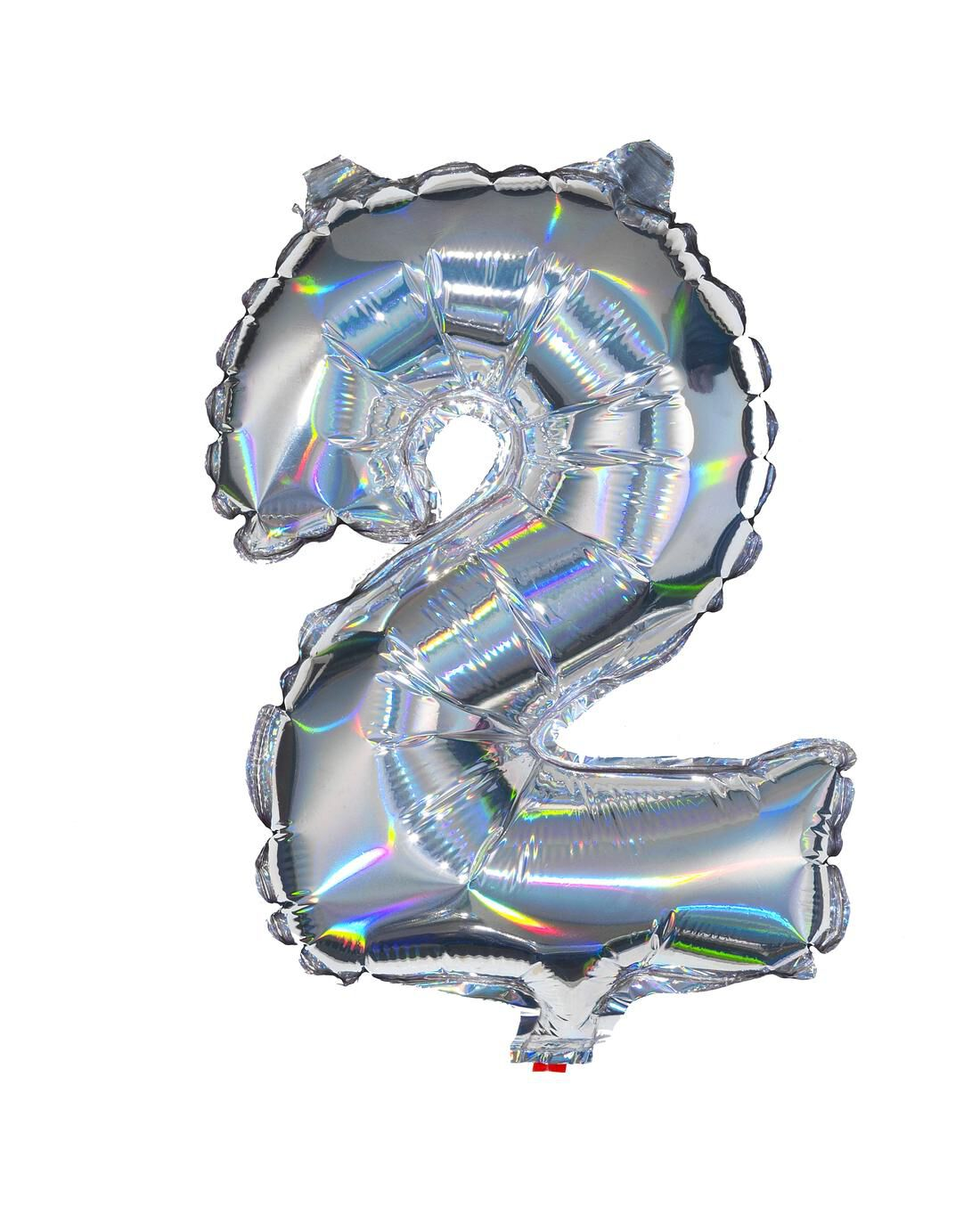 HEMA Folieballon 2 - Zilver (multicolor)