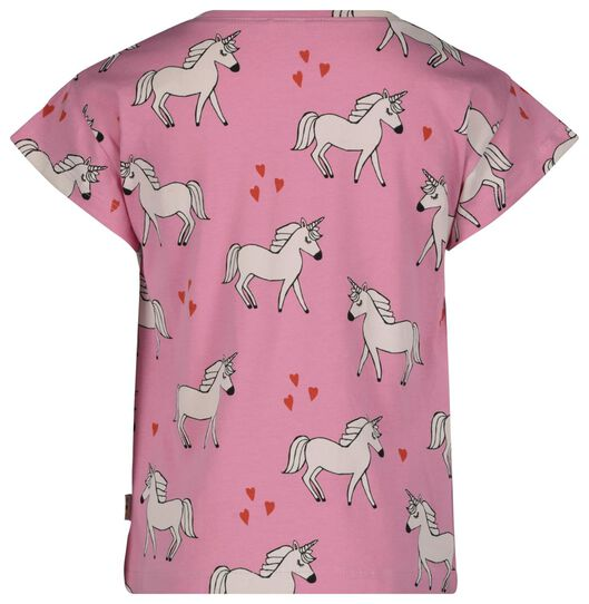 kinder t-shirt eenhoorn roze roze - 1000017859 - HEMA
