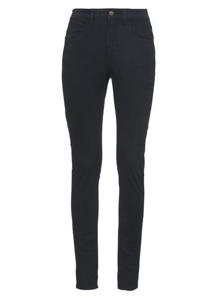 dames stretched skinny broek donkerblauw - 1000004389 - HEMA