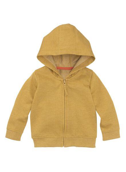baby sweatvest okergeel okergeel - 1000008557 - HEMA