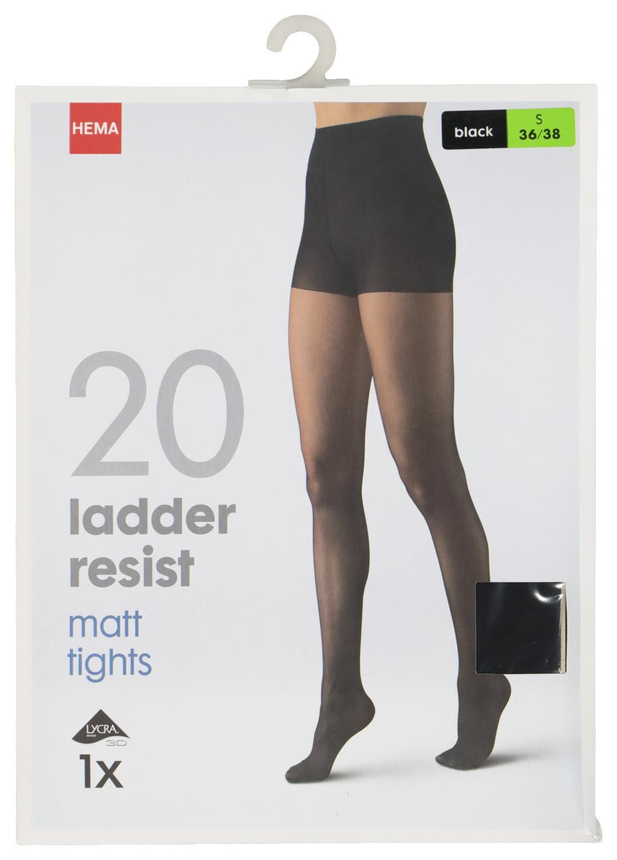 HEMA Panty Ladder Resist - Anti-ladder 20 Denier Zwart (zwart)