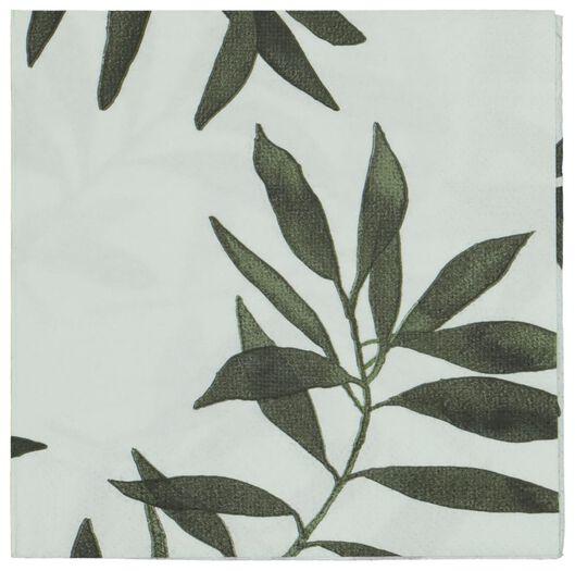 servetten papier 33x33 - bladeren - 20 stuks - 14200357 - HEMA