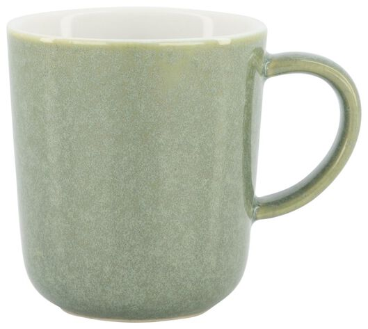 koffiemok Chicago 130 ml - reactief glazuur - groen - 9602157 - HEMA