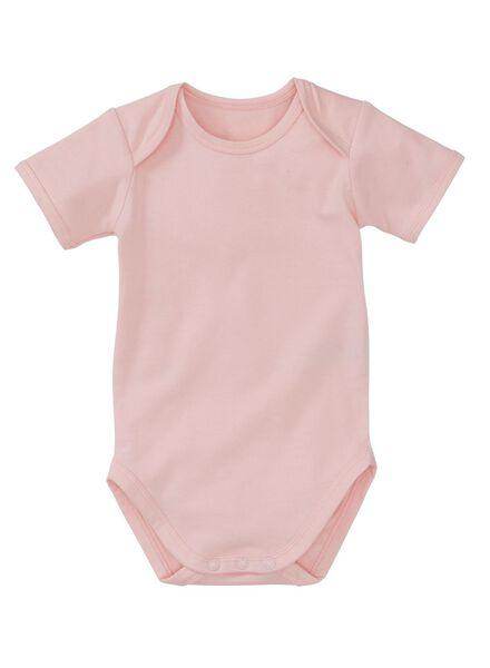 babyromper - biologisch katoen roze roze - 1000005025 - HEMA
