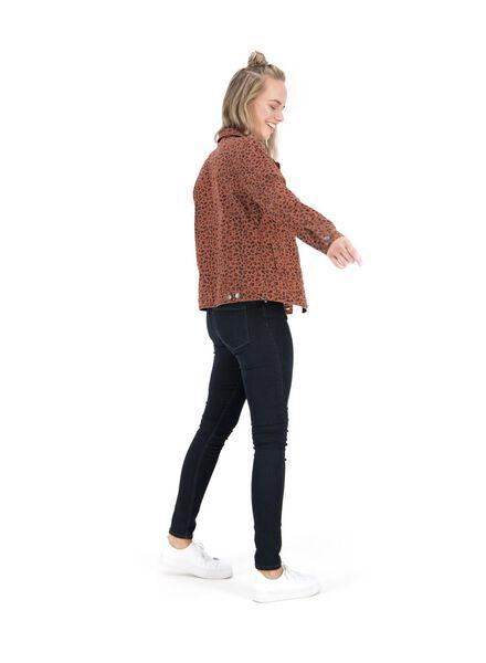 dames spijkerjasje bruin bruin - 1000014767 - HEMA