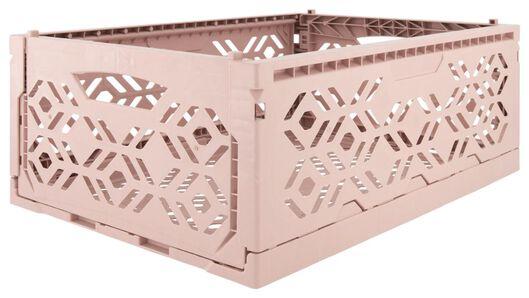 klapkrat recycled 30x40x15 - roze - 39821055 - HEMA