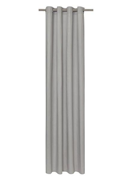kant en klaar gordijn met ringen grijs - 7632118 - HEMA