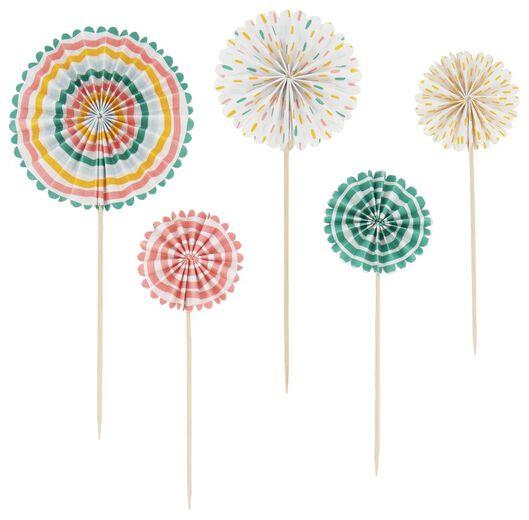 taart decoratieprikkers - 5 stuks - 14210119 - HEMA
