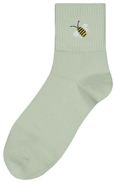 sokken maat 36-41 'summer' bij lichtgroen - 61140085 - HEMA