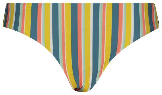 dames bikinibroekje - strepen multicolor XL - 22340234 - HEMA
