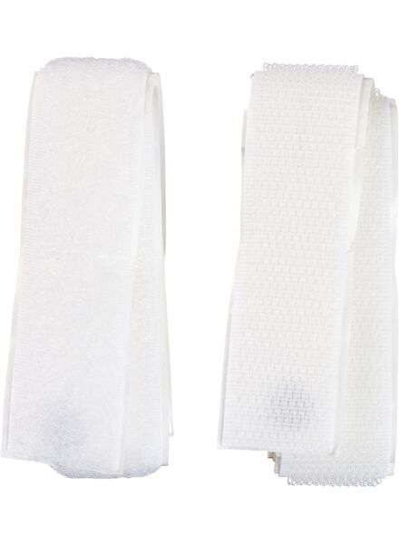 Klittenband zelfklevend 50cmx20mm wit