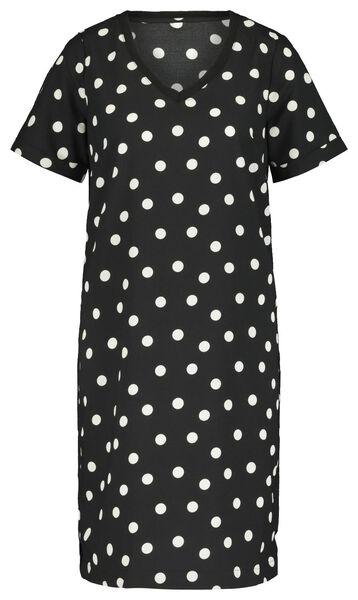damesjurk zwart/wit zwart/wit - 1000019332 - HEMA