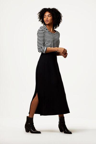 damesrok lang zwart zwart - 1000023503 - HEMA