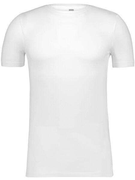 heren t-shirt slim fit o-hals wit wit - 1000009947 - HEMA