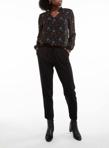 damesblouse zwart zwart - 1000010610 - HEMA