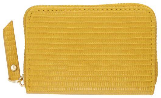 portemonnee 8x11 geel - 18120091 - HEMA