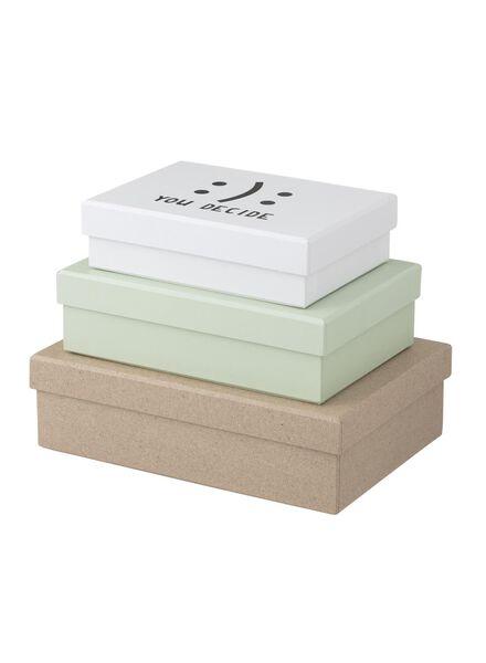 3-pak kartonnen doosjes - 39880015 - HEMA