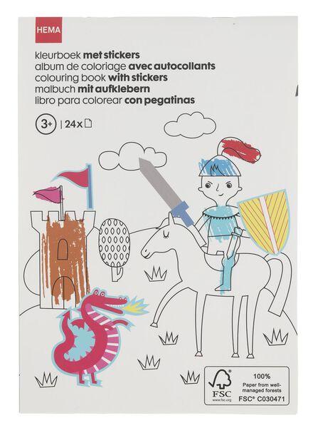 kleurenboek met stickers A5 - 15910082 - HEMA