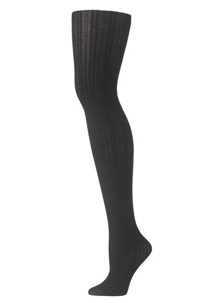 fashion maillot met kabel dessin zwart zwart - 1000010288 - HEMA
