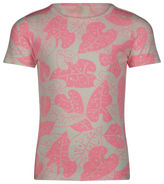 kinder t-shirt leaves roze - 1000023619 - HEMA