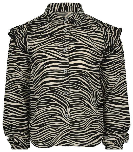 kinderblouse zebra gebroken wit gebroken wit - 1000022400 - HEMA