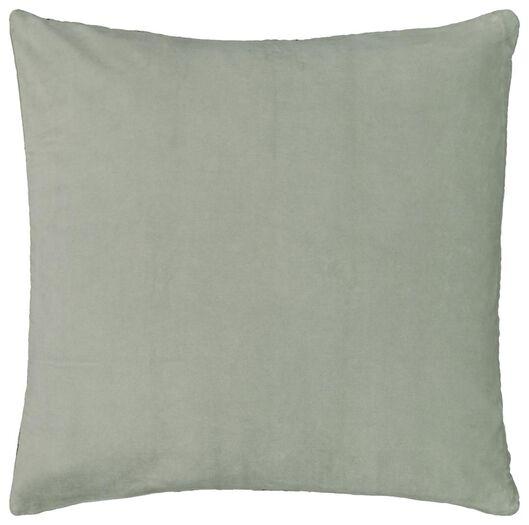 kussenhoes - 50x50 - velours - groen - 7320021 - HEMA