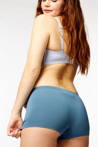 damesboxer naadloos micro middenblauw middenblauw - 1000022925 - HEMA