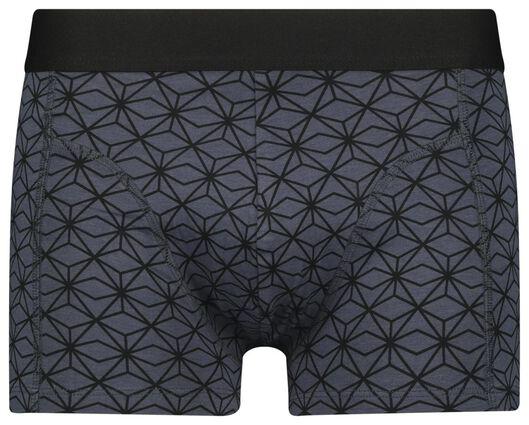 herenboxers kort- katoen/bamboe/stretch 2 stuks zwart zwart - 1000022832 - HEMA