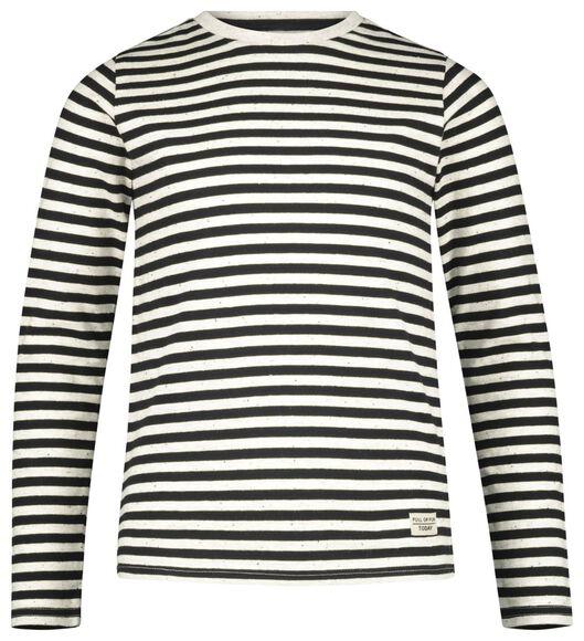 kinder t-shirt streep zwart zwart - 1000020572 - HEMA