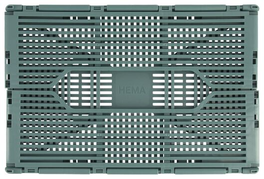 klapkratje letterbord recycled 20x30x11.5 - groen middengroen 20 x 30 x 11,5 - 39822184 - HEMA