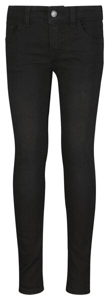 kinderjeans skinny fit zwart zwart - 1000024415 - HEMA