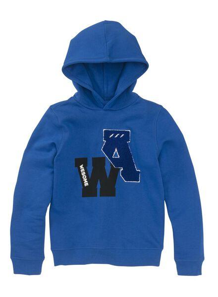 kindersweater middenblauw middenblauw - 1000009114 - HEMA