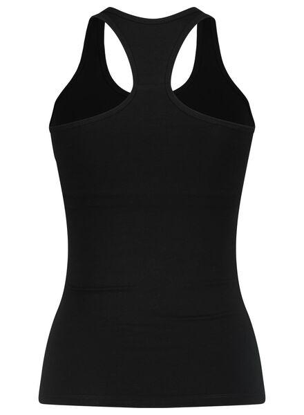 dameshemd met bh - racerback zwart zwart - 1000015420 - HEMA
