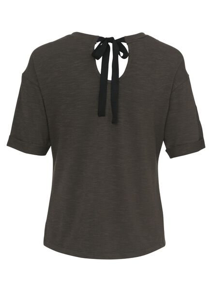 dames t-shirt donkergroen donkergroen - 1000009552 - HEMA