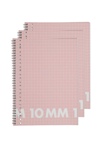 collegeblok A4 - geruit 10 x 10 mm - 3 stuks - 14101645 - HEMA