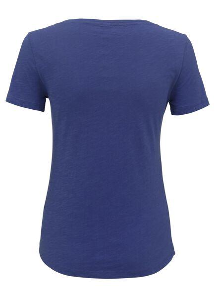dames t-shirt felblauw felblauw - 1000011993 - HEMA
