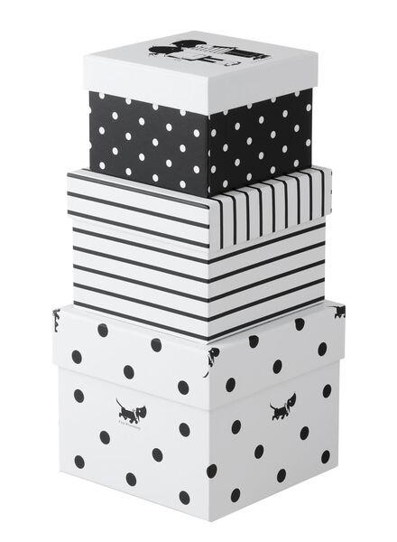 3-pak kartonnen dozen - 39800009 - HEMA