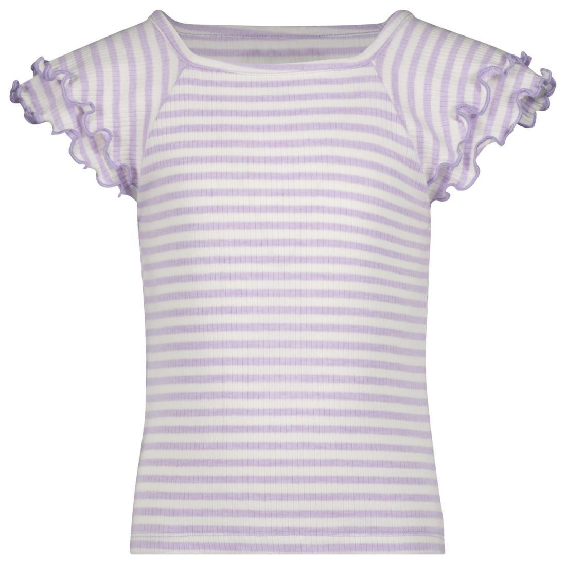 HEMA Kinder T-shirt Strepen Rib Lila (lila)