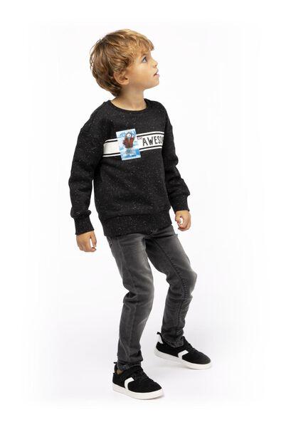 kindersweater zwart zwart - 1000017324 - HEMA