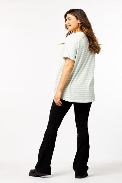 dames t-shirt strepen lichtgroen lichtgroen - 1000023919 - HEMA