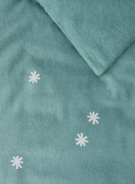 dekbedovertrek - flanel - 240 x 220 cm - groen ster - 5710054 - HEMA