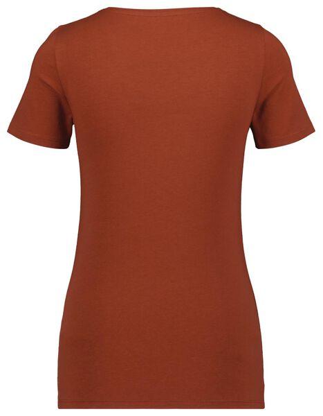 dames t-shirt bruin XL - 36338379 - HEMA